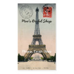 Vintage Eiffel Tower Postcard Double-Sided Standard Business Cards (Pack Of 100)