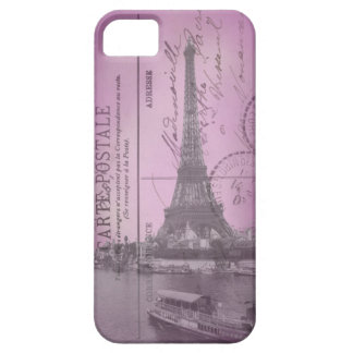 Vintage Eiffel Tower Postcard in Pink iPhone 5 iPhone 5 Cover