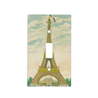 Vintage Eiffel Tower Postcard Light Switch Cover
