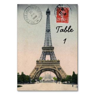 Vintage Eiffel Tower Postcard Table Cards