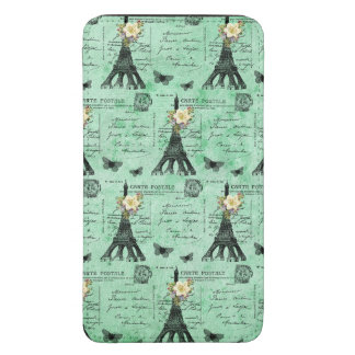Vintage Eiffel Tower Postcards on Green Galaxy S5 Pouch