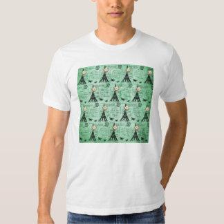 Vintage Eiffel Tower Postcards on Green T Shirt