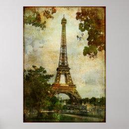Vintage Eiffel Tower Poster