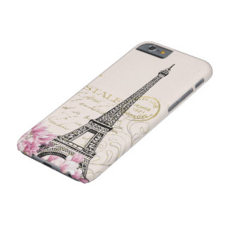 Vintage Eiffel Tower Print Barely There iPhone 6 Case