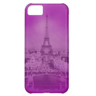 Vintage Eiffel Tower Purple exposure iPhone 5C Case