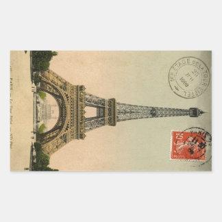 Vintage Eiffel Tower Rectangular Sticker
