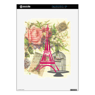 Vintage Eiffel Tower iPad 2 Decals