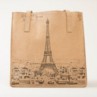 Vintage Eiffel Tower Tote
