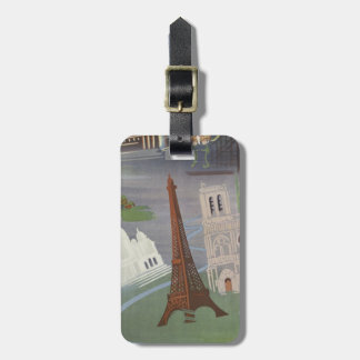 Vintage Eiffel Tower Travel Luggage Tags