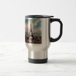 Vintage Eiffel Tower Travel Mug