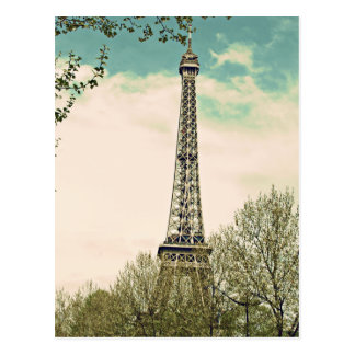 Vintage Eiffel Tower V1 Postcard