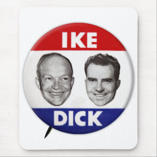 Vintage Eisenhower Ike Dick Nixon Political Button Mouse Pad