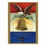 Vintage el 4 de julio con Eagle y Liberty Bell