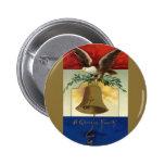Vintage el 4 de julio con Eagle y Liberty Bell Pins