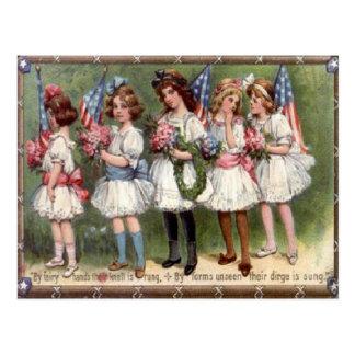 Vintage el 4 de julio postal