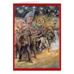 Vintage el 4 de julio tarjetas