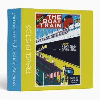 """Vintage el álbum del viaje del tren de barco carpeta 1 1/2"""""""