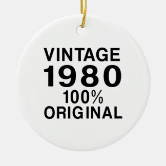 Vintage el an o 80 adorno navideño redondo de cerámica