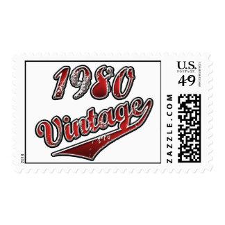 Vintage el an o 80 estampilla