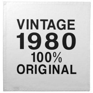 Vintage el an o 80 servilletas de papel