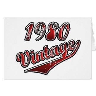 Vintage el an o 80 tarjeta de felicitación