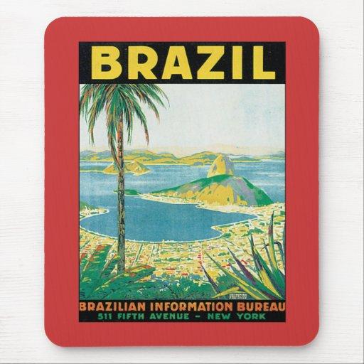 Vintage el Brasil Alfombrilla De Ratones