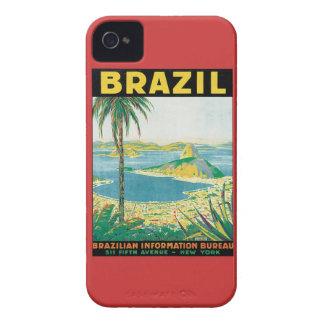 Vintage el Brasil Case-Mate iPhone 4 Carcasas