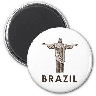 Vintage el Brasil Imán Redondo 5 Cm