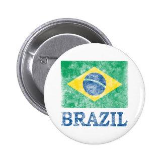 Vintage el Brasil Pin Redondo 5 Cm