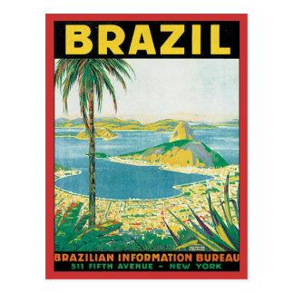 Vintage el Brasil Tarjeta Postal