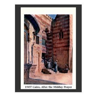 Vintage El Cairo 1900 Egipto después del rezo del Postales
