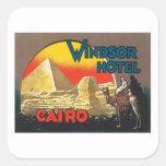 Vintage El Cairo Egipto Pegatina Cuadrada