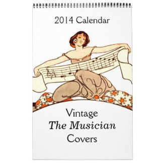 Vintage el calendario de las portadas de revista 2