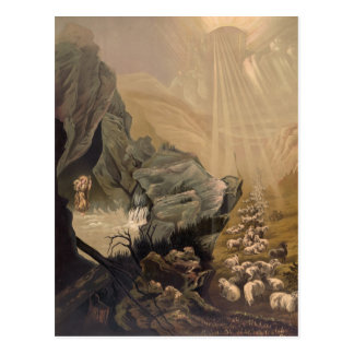 Vintage el ejemplo perdido 1878 de la biblia de postal