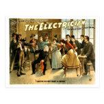 Vintage - el electricista tarjeta postal