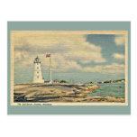 Vintage el faro, Nassau Bahamas Tarjetas Postales