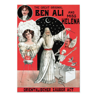 """Vintage el gran Ben original Ali Invitación 5"""" X 7"""""""