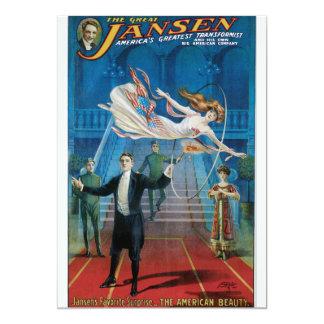 """Vintage el gran poster de la publicidad de Jansen Invitación 5"""" X 7"""""""