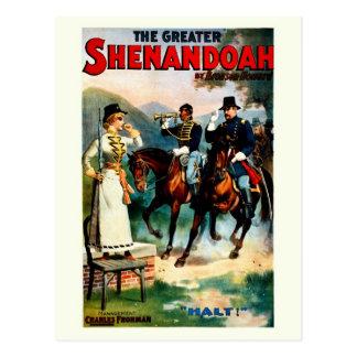 Vintage el mayor juego del teatro de Shenandoah Postal