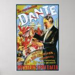 Vintage el poster misterioso de Dante