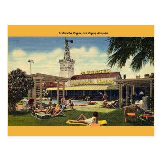 Vintage El Rancho Vegas Post Card