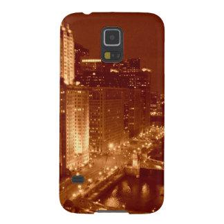Vintage el río Chicago Fundas De Galaxy S5