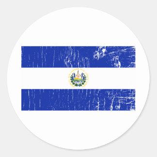 Vintage El Salvador Classic Round Sticker
