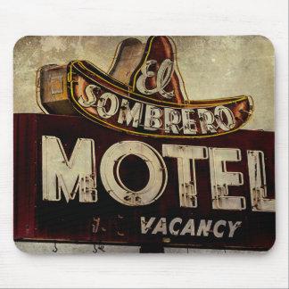 Vintage El Sombrero Motel Sign Mouse Pad