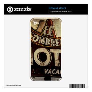 Vintage El Sombrero Motel Sign iPhone 4S Skins