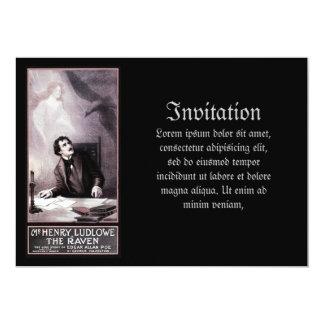 Vintage el Theatrical del cuervo Invitación 12,7 X 17,8 Cm
