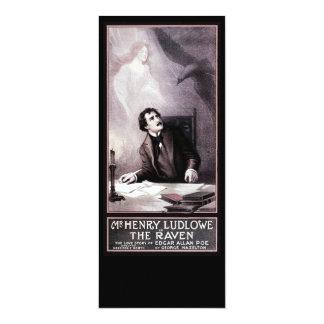 Vintage el Theatrical del cuervo Invitación 10,1 X 23,5 Cm