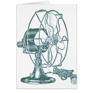 Vintage Electric Fan Card