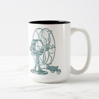 Vintage Electric Fan Two-Tone Coffee Mug