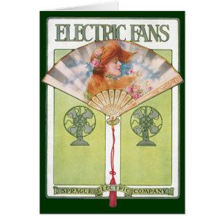 Vintage Electric Fans Card